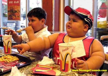 overweight eating at McDonalds