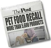 Petfood recalls